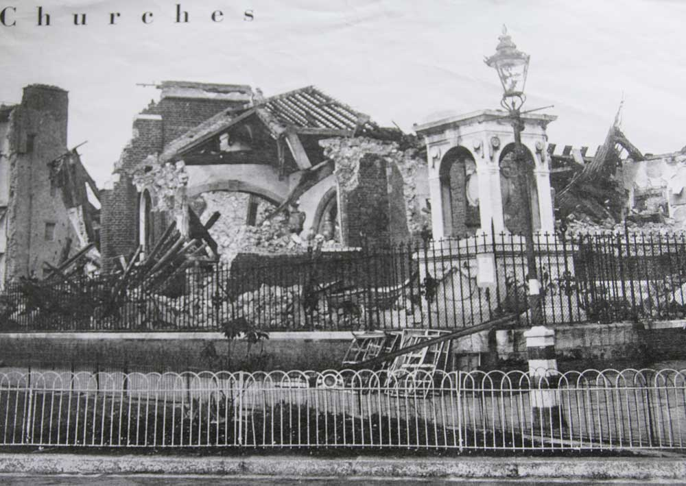 Wartime bomb damage