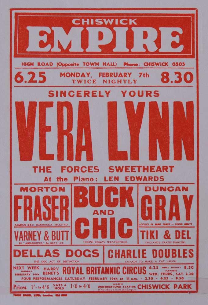 Chiswick-Empire-Vera-Lynn