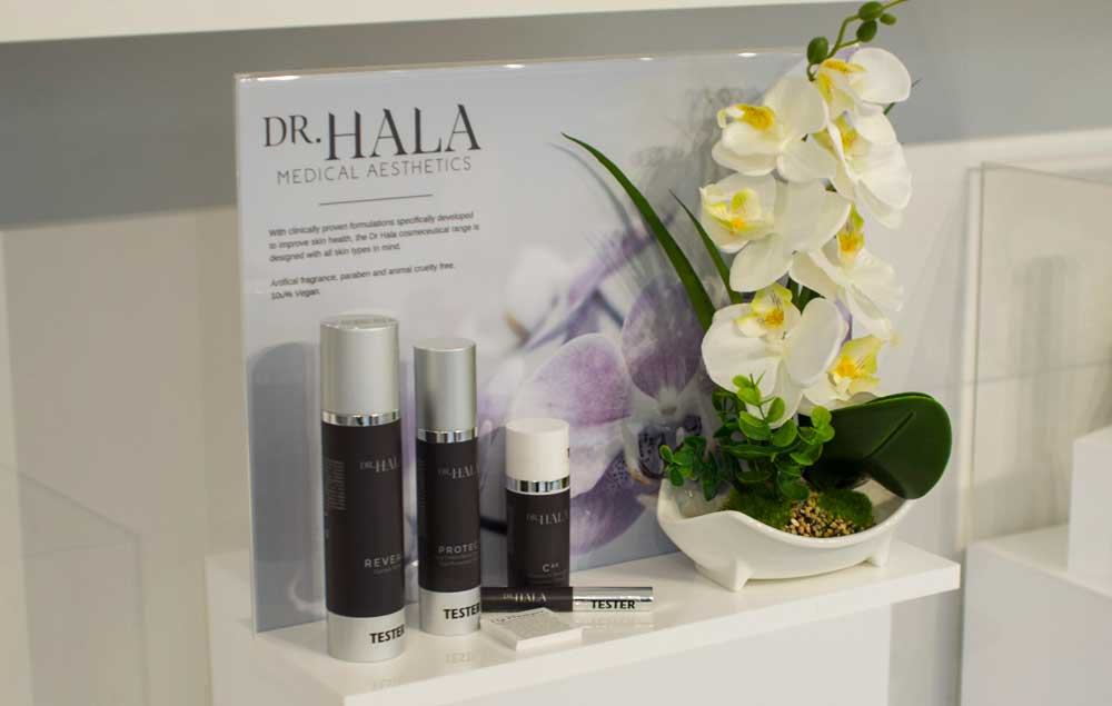 The latest tried and tested treatments in a safe, relaxing environment... Dr Hala and her team of professional therapists deliver the very best specialist aesthetic and beauty care
