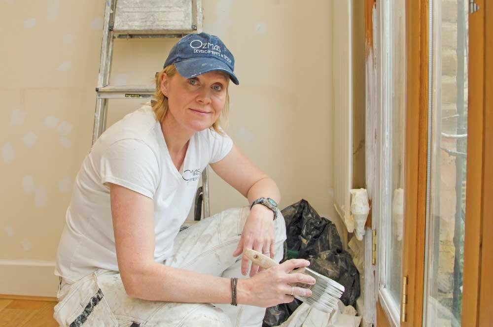 Local painter and decorator Georgina Knight hopes to make her company Ozmas a household name