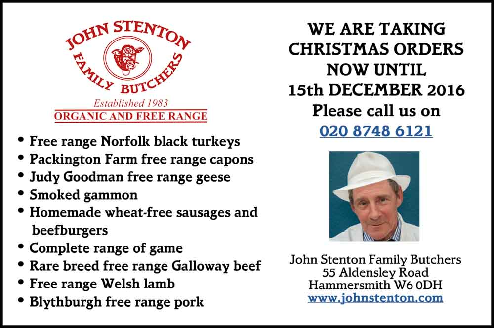John Stenton Family Butchers: WE ARE TAKING CHRISTMAS ORDERS NOW UNTIL 15 DECEMBER 2017 – 020 8748 6121