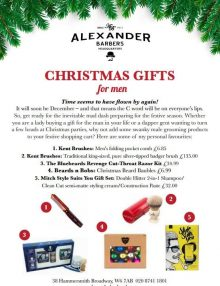 Alexander Barbers Headquarters: Christmas Gifts for Men